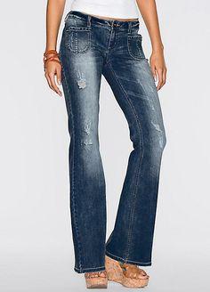5f9165edf83 Rainbow Faded Flared Jeans Dark Denim Size UK 16 rrp 29.99 DH087 AA 22   fashion