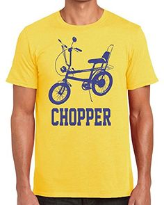 Yellow Raleigh Chopper T-shirt for Men - S to XXL Raleigh Chopper, Chopper Bike, Amazon Associates, My Youth, High Quality T Shirts, 70s Fashion, Cool Designs, Nostalgia, Shirt Designs