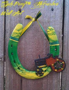 Sole Pony Horseshoe Wall Art! Made from recycled horseshoes!