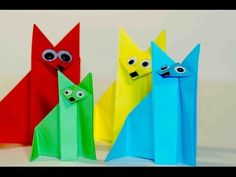 Еasy origami for kids. Оrigami Fox. Origami instructions for kids. Origami for kids step by step. - YouTube
