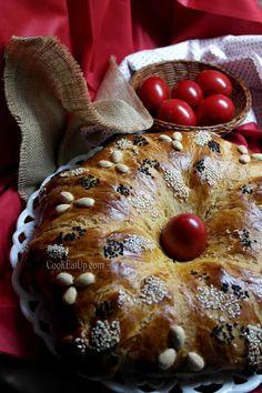 Greek Sweets, Bread Appetizers, Greek Recipes, Easter Recipes, Sweet Bread, Bagel, Cooking Recipes, Tasty, Breakfast