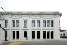 """Completed in 2015 in Santiago, Chile. Images by Nico Saieh, Maria Gonzalez. The design for this experimental performing arts hall proposed an """"emptying operation,"""" for which we used to our advantage the same municipal rules. Amazing Architecture, Contemporary Architecture, Restaurant, Multi Story Building, Image, Colours, Interior Design, House, Santiago"""