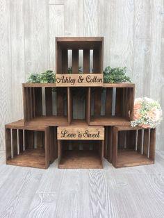 Rustic Wedding Cupcake Stand, Crate Cupcake Stand,  Wood Cupcake Stand #BarnWeddingIdeas