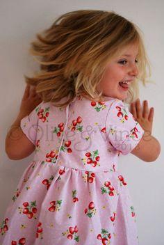 Dress strawberry summertime girls summer picnic by OliveAndVince