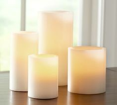 Pottery Barn Flameless Candles Captivating Pottery Barn Ombre Flameless Wax Pillar Candlelove The Placement