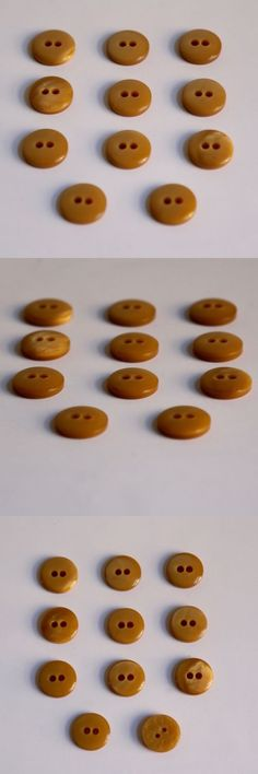 """Buttons 7320: New Vintage Buttons - Eleven (11) 3 4"""" Two Hole Caramel Butterscotch Color -> BUY IT NOW ONLY: $31.99 on eBay!"""
