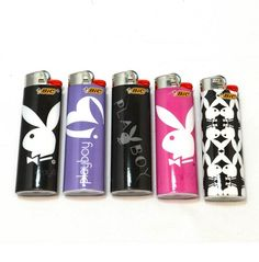 Set of 5 Pieces Playboy BIC Lighters | topgifts - Accessories on ArtFire
