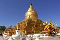 Pagode Shwezigon est un grand stûpa situé à Nyaung U, près de Bagan,