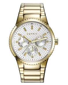 Gave Esprit - Horloge - 38 mm - Goudkleurig Rolex Watches, Watches For Men, Classic Gold, Stainless Steel Bracelet, Michael Kors Watch, Gold Watch, Quartz, Rose Gold, Bracelets