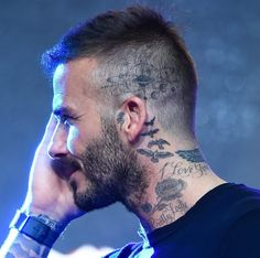 David Beckham Reveals New Head Tattoo (Photos)