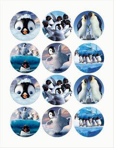"Happy Feet 2 25"" Edible Image Cup Cake Toppers 12pcs Cut Paste No Peel | eBay"