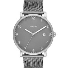 Men's Hagen Mesh Bracelet Watch by Skagen on Vintage Watches For Men, Best Watches For Men, Latest Watches, Mesh Bracelet, Bracelet Watch, Skagen Watches, Men's Watches, Silver Watches, Nice Watches
