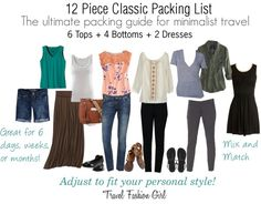 """""""12 Piece Classic Packing List"""" by travelfashiongirl ❤ liked on Polyvore"""