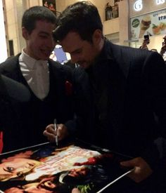 Ezra telling Cavill that afterwards they should go grab a drink and that Jason is buying...lol!! :)