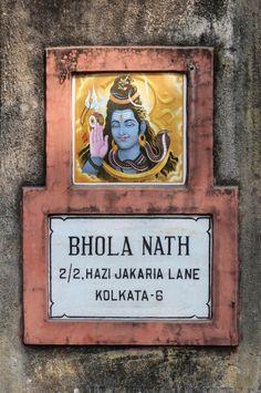 A door sign in Kolkata.