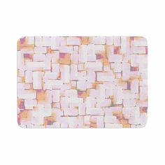 "Rachel Watson ""Cobble"" Coral Orange Memory Foam Bath Mat"