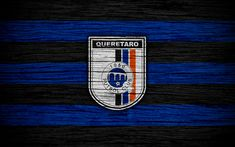 Download wallpapers Queretaro FC, 4k, Liga MX, football, Primera Division, soccer, Mexico, Queretaro, wooden texture, football club, FC Queretaro