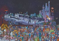 Cool Art: Star Wars, Batman and Mega City One by Ulises Farinas | Live for Films