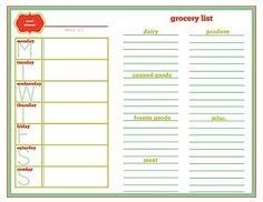 Meal Planner Calendar