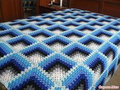 VK is the largest European social network with more than 100 million active users. Crochet Square Blanket, Crochet Baby Blanket Free Pattern, Crochet Ripple, Crochet Quilt, Crochet Blocks, Granny Square Crochet Pattern, Crochet Stitches Patterns, Knit Crochet, Crochet Instructions