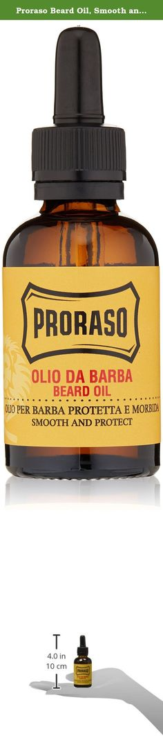 Proraso Beard Oil, Smooth and Protect, 1.0 fl oz (30 ml). Proraso Beard Oil is formulated to nourish and protect a long, thick beard. Beard oil is infused with avocado and sunflower seed oil, menthol and eucalyptus. With the masculine scent of cedar wood and Mediterranean extracts, beard oil leaves a fresh feel and scent. Originating in Italy, Proraso has been helping men achieve a smooth shave since 1948. Over the years, our line of men's shaving products has evolved to feature...