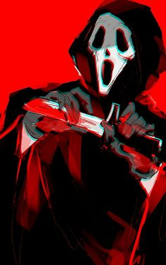 Scream, Ghostface, Horror Characters, Horror Movies, Twitter (Credits for the Artist)