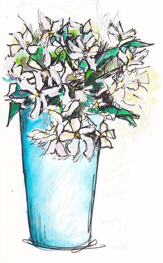 Some jasmine from my garden for the studio... http://traceyfletcherking.blogspot.com.au/