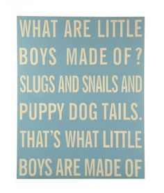 what are little boys made of images - Google Search