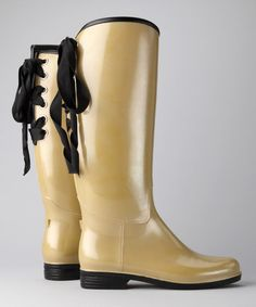 Take a look at this Khaki Pearl Victoria Rain Boot by däv on #zulily today!