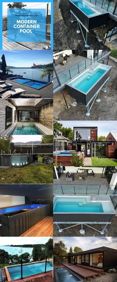 Looking for how to renovate shipping container into house, Shop, Garage or Workshop? Here are extensive shipping Container Houses Ideas for you! shipping container homes Shipping Container Pool, Shipping Container Home Designs, Container House Design, Container Houses, Shipping Containers, Shipping Container Buildings, Container Cafe, Container Gardening, Pool Cost