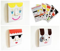 Cute light switch stickers for kids