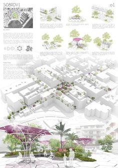 Concurso peatonalizacion en Sta. Eularia - Ibiza L01 en colaboracion con Studio Icono