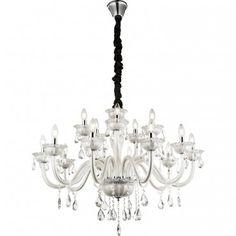 Duży stylowy żyrandol kryształowy wielopunktowy Teejay - LampyTanie - 2916,90 PLN