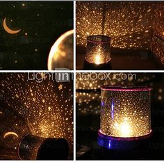 Starry Night Sky Projector Colorful LED Night Light (Random Color,Powered by 3 AA Battery) - USD $ 7.99