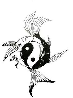 Yin-Yang Koi Fish tattoo: Chock full of symbolism.positive/negative…courage, … Yin-Yang Koi Fish tattoo: Chock full of symbolism.positive/negative…courage, overcoming life's difficulties, PLUS I'm a Pisces…and I am an identical twin. Yin Yang Fish, Ying Yang, Arte Yin Yang, Yin Yang Tattoos, Ying Und Yang Tattoo, Dragon Yin Yang Tattoo, Dragon Tattoos, Koi Fish Drawing, Koi Fish Tattoo