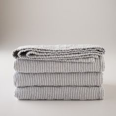 Inspired by classic utility fabric, our blue oxford Diamond Ticking Quilt is… Striped Bedding, Striped Quilt, Ticking Stripe, Quilt Bedding, Linen Bedding, Bed Linens, Bedding Sets, Boy Bedding, Fluffy Bedding