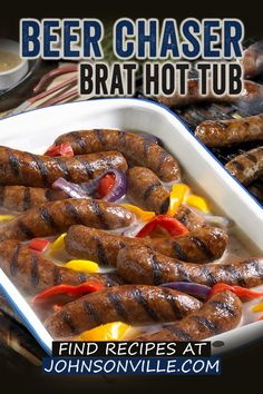 Bratwurst Recipes, Sausage Recipes, Pork Recipes, Crockpot Recipes, Cooking Recipes, Hot Dog Recipes, Pork Dishes, Grilled Meat, Healthy Meals