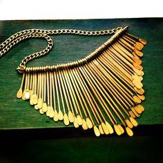 Tassel Elegant Trendy Ethnic tribal style Gold Metal by XenaStyle