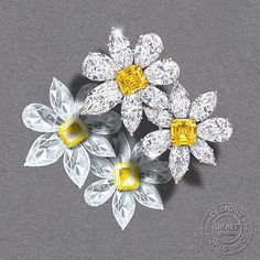 WEBSTA @ graffdiamonds - Our designs are often inspired by the stones themselves. In this instance, two Fancy Vivid Yellow emerald cut diamonds were the genesis of this magnificently crafted flower brooch.(Diamonds 61.73cts)#GraffDiamonds #YellowDiamond #DiamondDesign #DiamondBrooch #FlowerBrooch #FineJewellery
