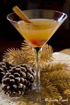 Happy Reindeer Daiquiri: Rum, Lime Juice, Brown Sugar Cinnamon Syrup, Maraschino Cherry, Cinnamon Stick