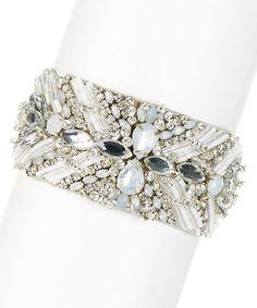 Another great find on #zulily! Clear & Silvertone Shimmering Lights Bracelet #zulilyfinds