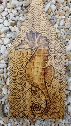 Sea horse  paddle wood burning  15 by NeptuneMoonVa on Etsy