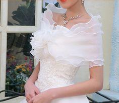 Wedding Wraps Organza Bridal Wedding Shawls by happyshoppingmall
