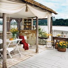 Outdoor Living Space - 20 Beautiful Beach Cottages - Coastal Living