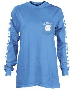 sneakers for cheap bd5aa c3646 Pressbox Women s North Carolina Tar Heels Long Sleeve Pocket T-Shirt - Blue  XL Tar