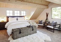 If Our Home Looked Like This Catskills Winter Lodge, We'd Never Leave via @MyDomaine