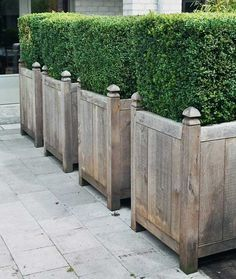 Based in Zandhoven, Belgium, Out-Standing is a woodworking shop that produces handmade planters, outdoor tables, garden gates, lamps, and finials, mostly u
