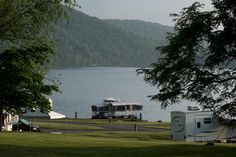 Our favorite camping spot Lake Raystown Resort. For the non camper they have villa's and cabins too! Family Vacation Spots, Vacation Places, Lakeside Camping, Camping Spots, Cabins, Rv, Camper, Villa, Spaces
