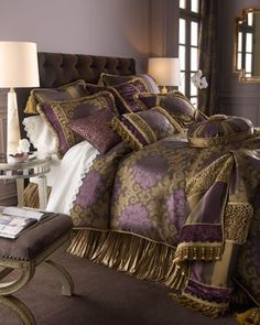 1000 images about purple gold on pinterest lsu purple and purple gold - Purple and gold bedroom ...