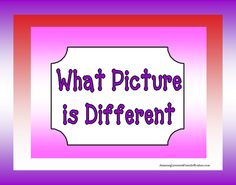 What Picture is Different from AmazingLessons4Friends on TeachersNotebook.com -  (43 pages)  - What Picture is Different